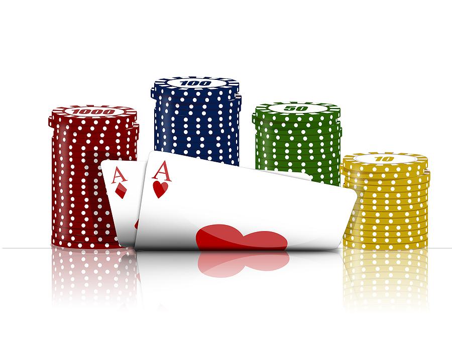 kort och marker Om Poker